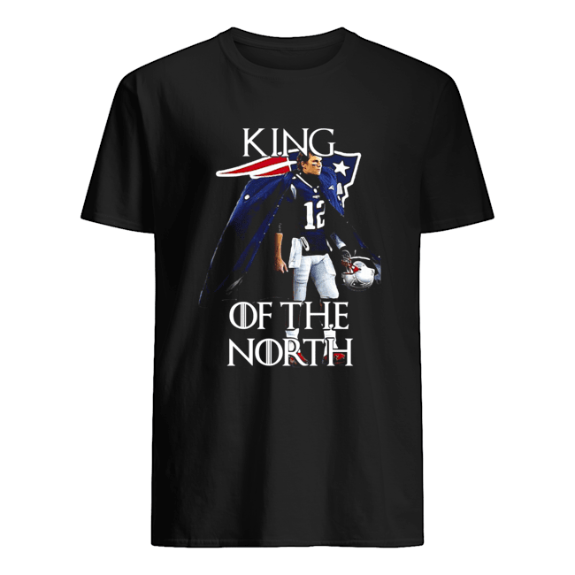 Tom Brady New England Patriots 12 King Of The North GOT Classic Men's T-shirt
