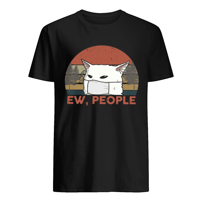 Vintage Ew People Woman Yelling Cat Mask Classic Men's T-shirt