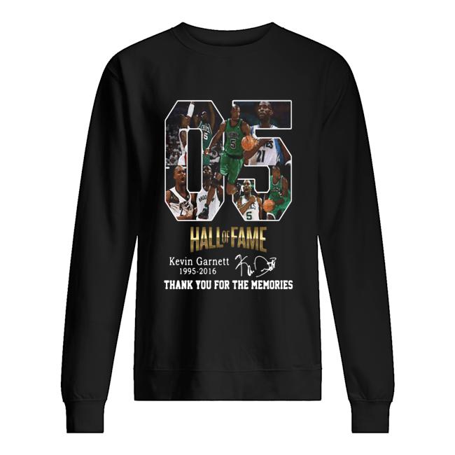 05 Hall of Fame Kevin Garnett 1995 2016 signature  Unisex Sweatshirt