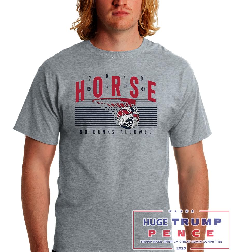 Shop Trump 2020 2020 Horse No Dunks Allowed Shirt