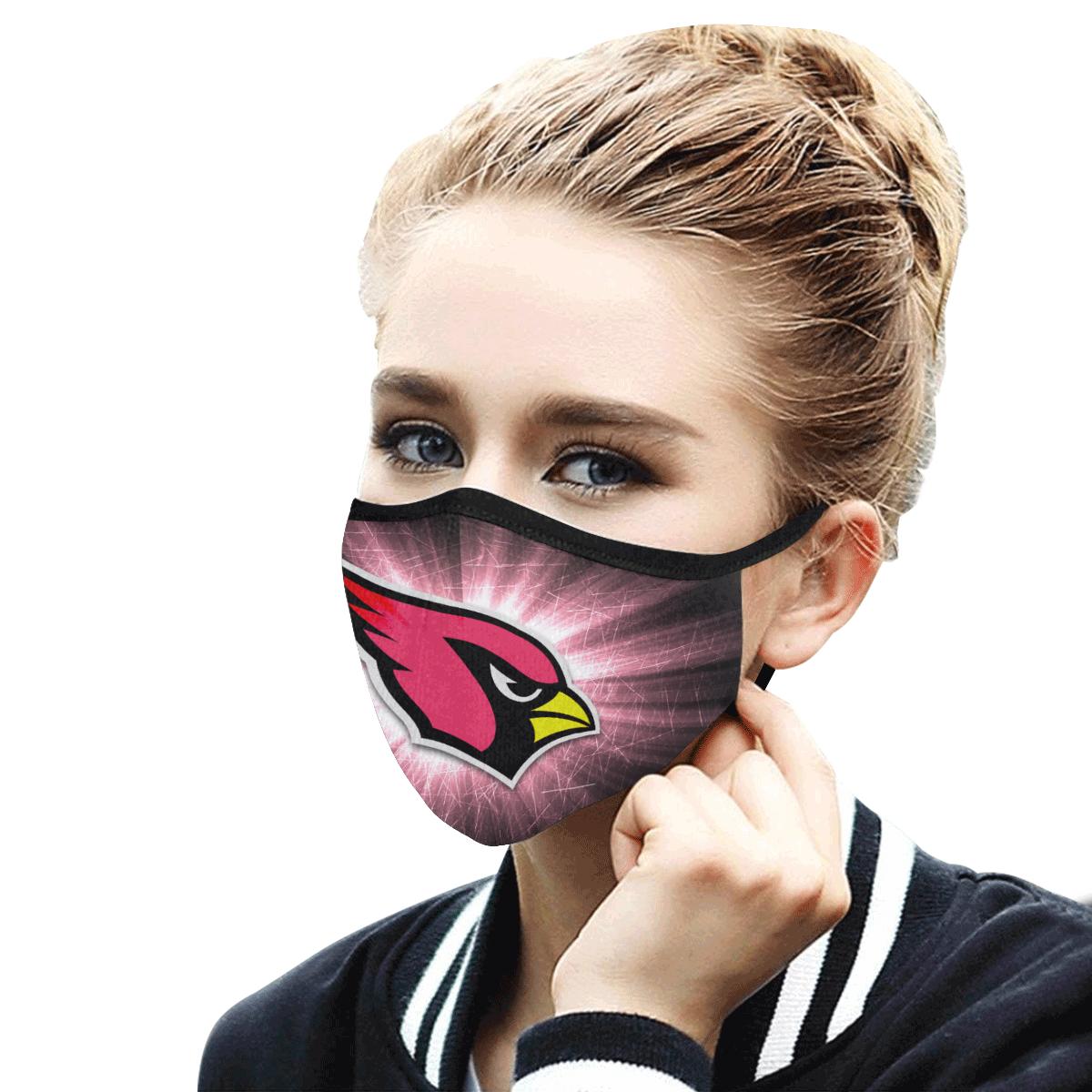 Face Mask Filter PM2.5 Arizona Cardinals Face Mask Filter PM2.5