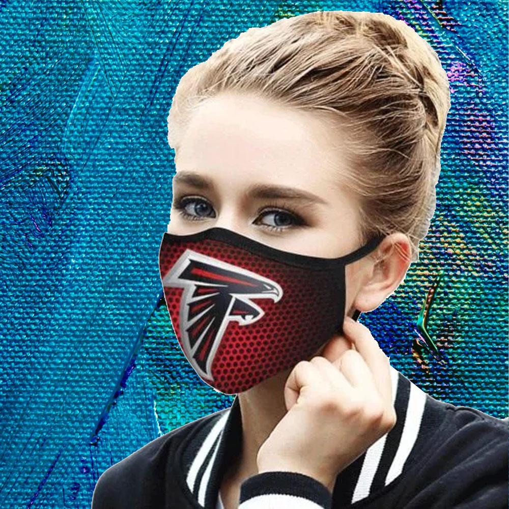 Face Mask Filter PM2.5 Atlanta falcons cloth Face Mask – Adults Mask PM2.5 us