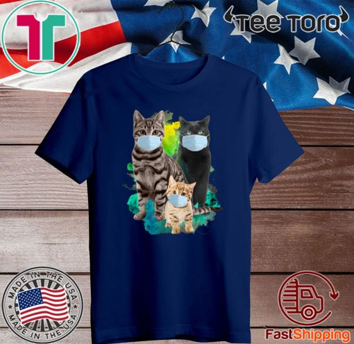 Cat Wear Face Mask Tee Shirts