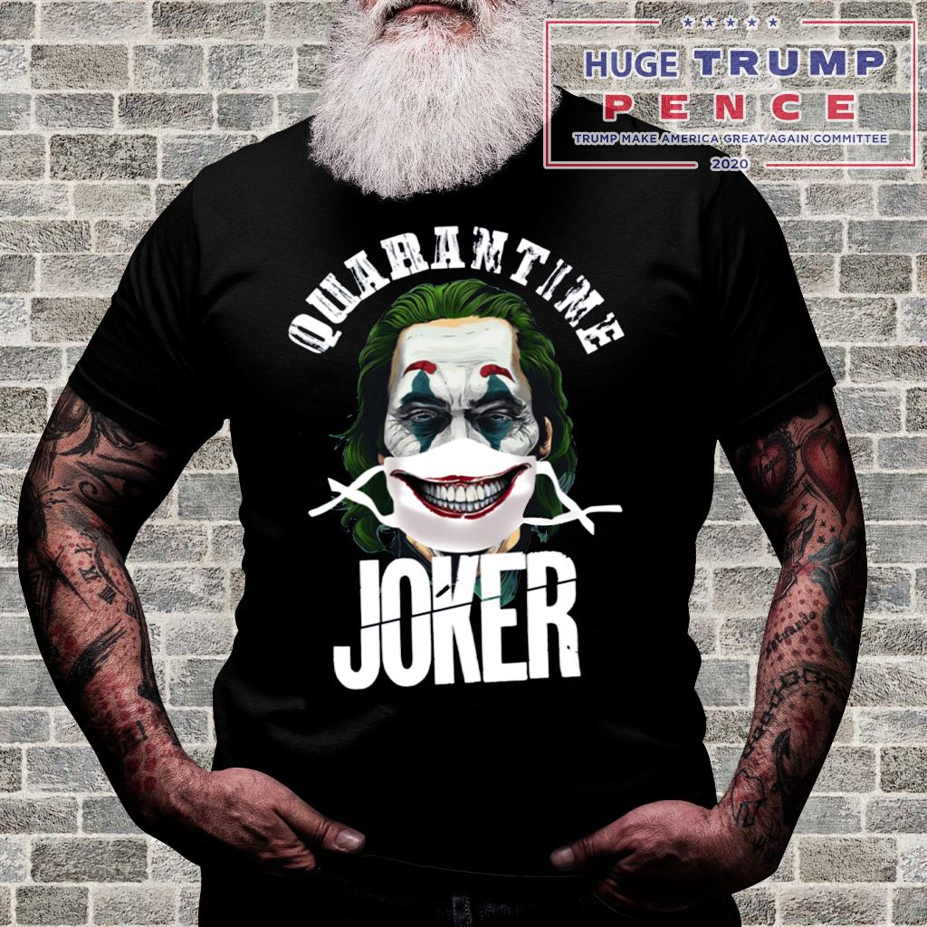 Shop Trump 2020 Joaquin Phoenix Quarantine Joker Shirt