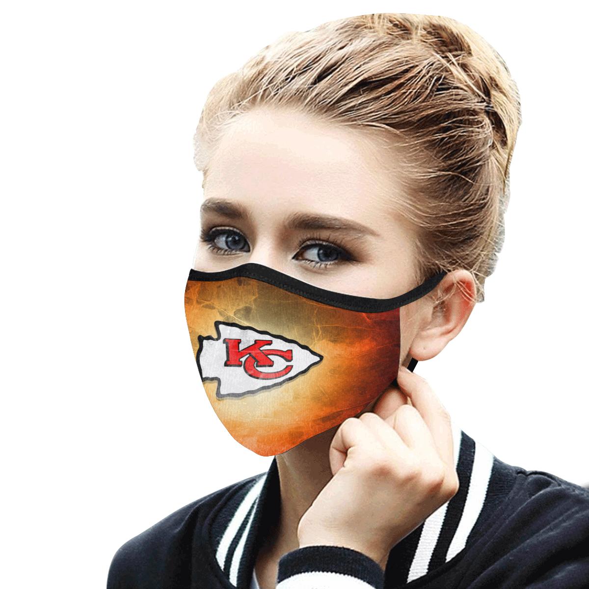 Face Mask Filter PM2.5 Kansas City Chiefs Face Mask Filter PM2.5