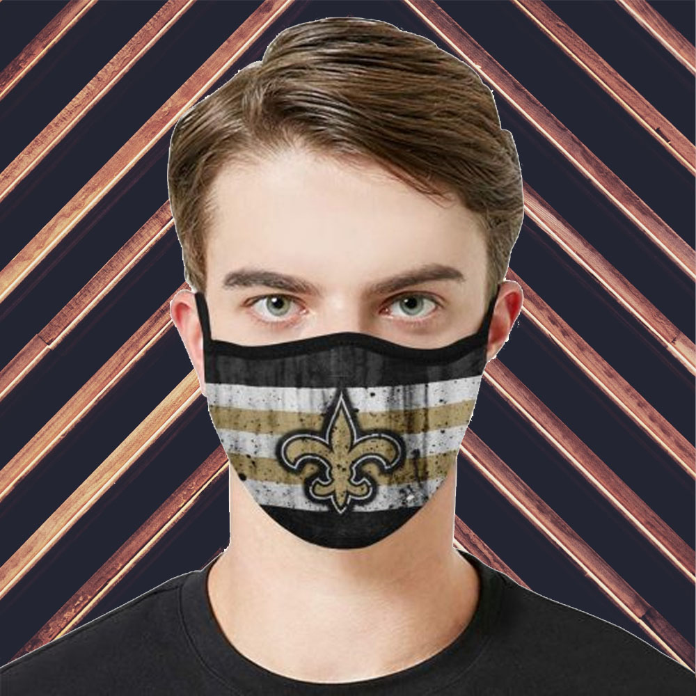 Face Mask Filter PM2.5 New Orleans Saints cloth Face Mask – Adults Mask PM2.5 us