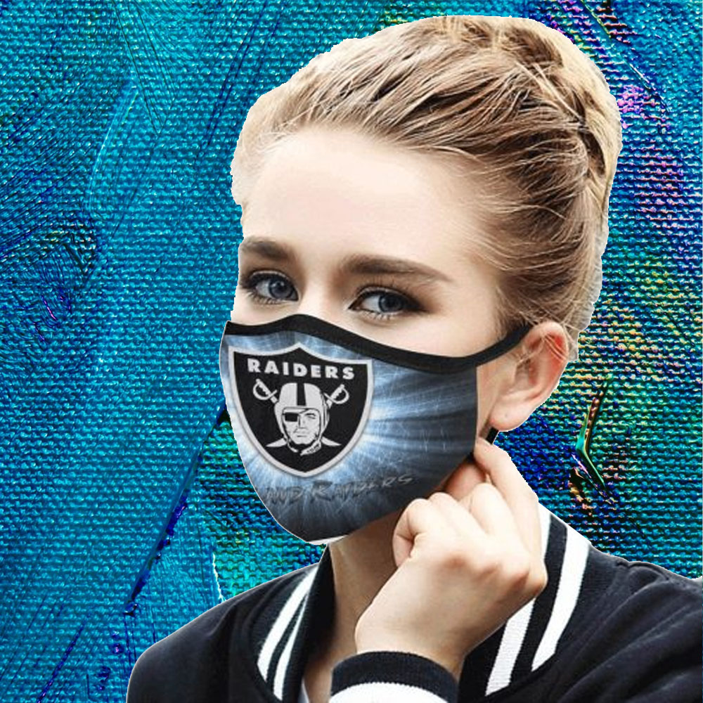Face Mask Filter PM2.5 Oakland Raiders cloth Face Mask US Face Mask – Adults Mask PM2.5 us