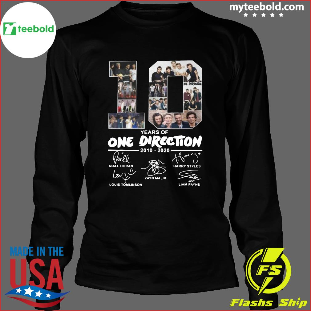 10 Years Of One Direction 2010 2020 Signatures Shirt Long Sleeve