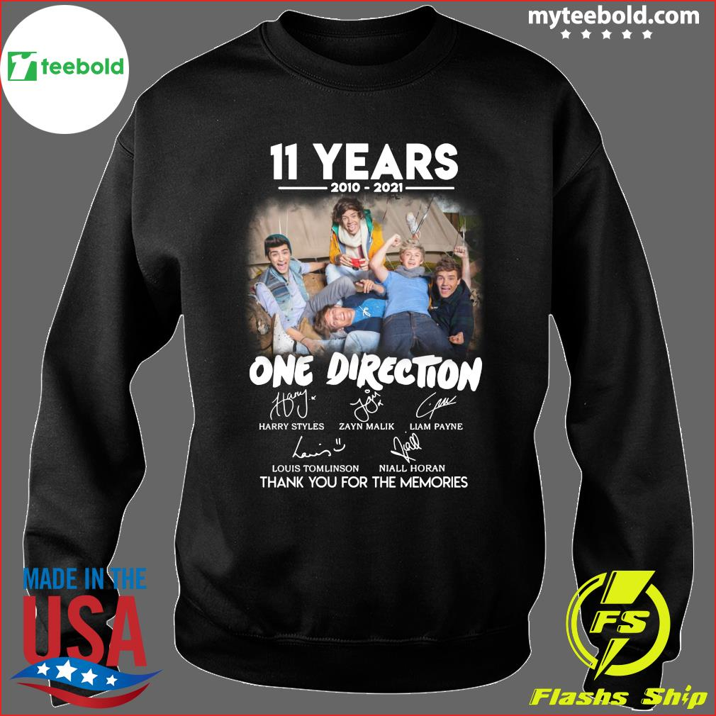 11 Years 2010 2021 Of One Direction Movie Signatures Thanks For The Memories Shirt Sweater