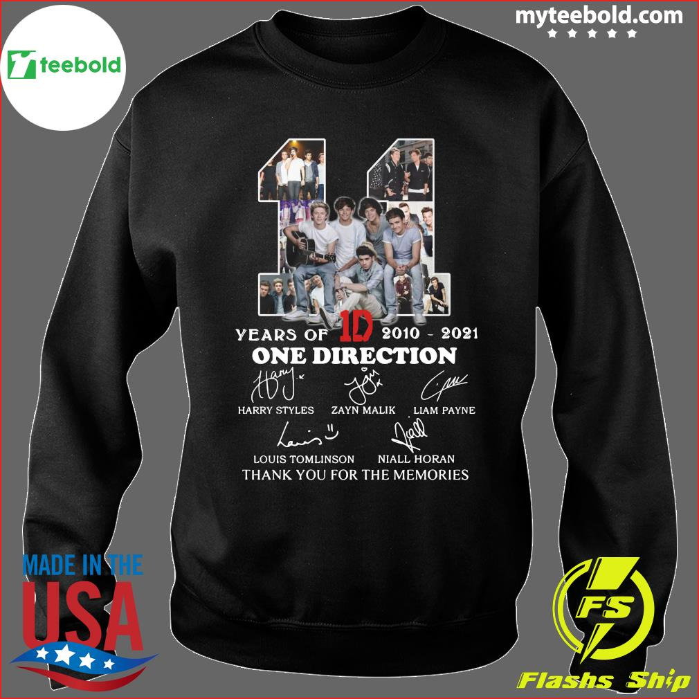 11 Years Of 1D One Direction 2021 2021 Signatures Thanks For The Memories Shirt Sweater