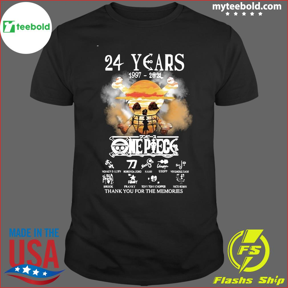 27 Year of One Piece 1997 2021 Thank You For The Memories Signatures Shirt