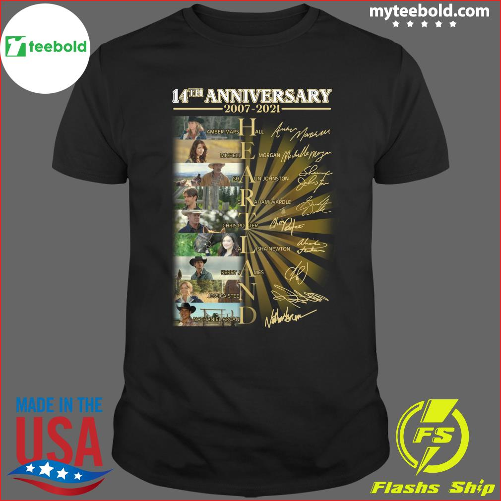 Official Heartland Movie Character 14th Anniversary 2007 2021 Signatures Shirt