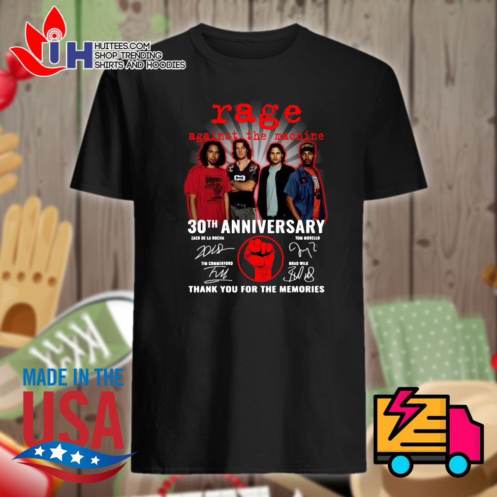 Rage against the Machine 30th anniversary signatures thank you for the memories shirt