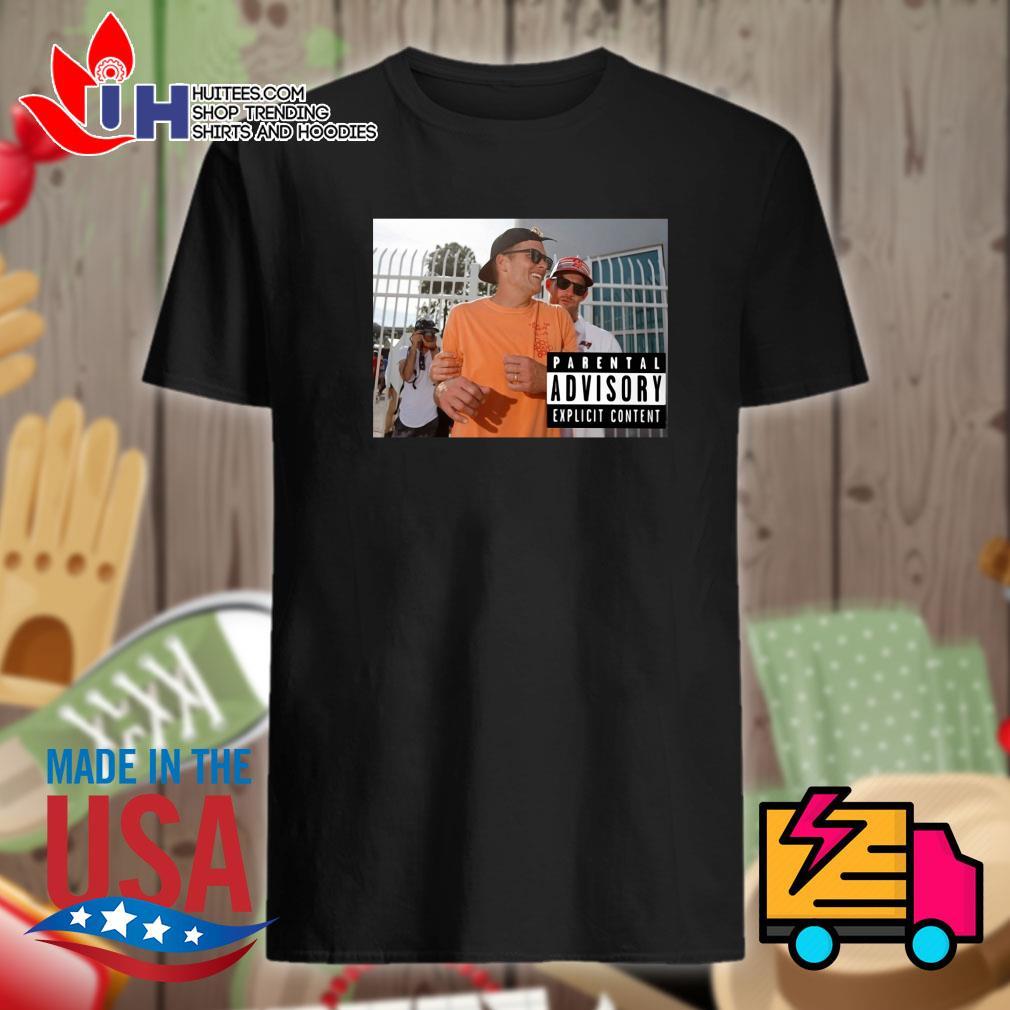 Tom Brady parental advisory explicit content shirt