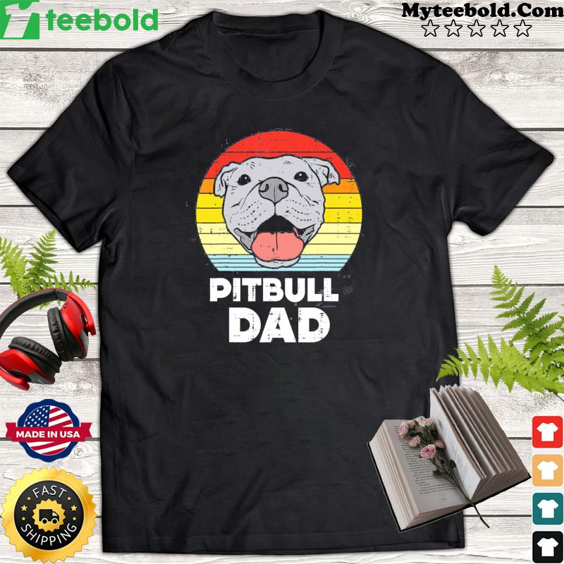 Pitbull Dad Vintage Retro Classic Shirt