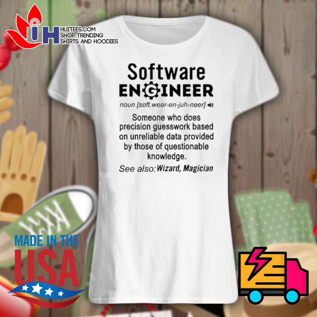 Software Engineer definition Wizard Magician s Ladies t-shirt
