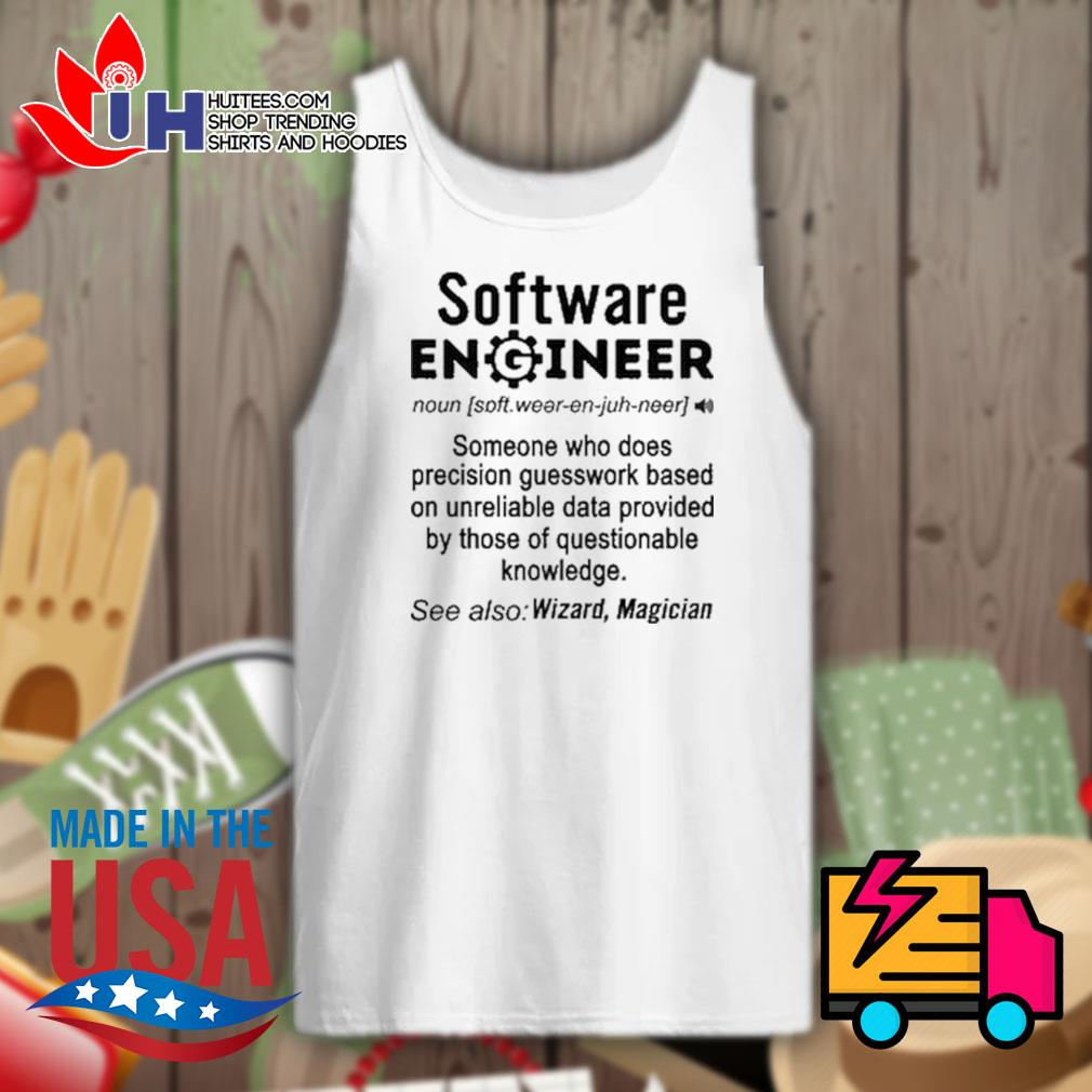 Software Engineer definition Wizard Magician s Tank-top
