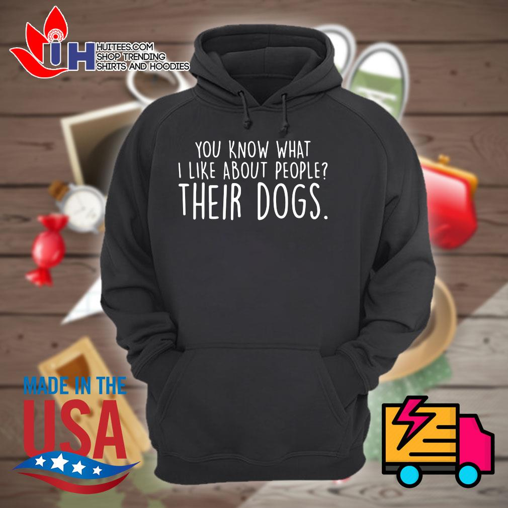 You know what I like about people their dogs s Hoodie