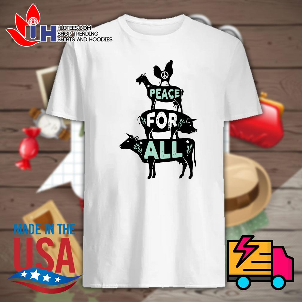 Animals peace for all shirt