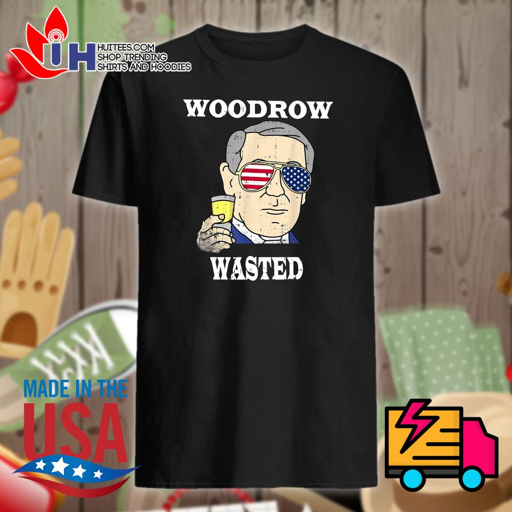 Woodrow Wasted Drinking Party 4th of July shirt