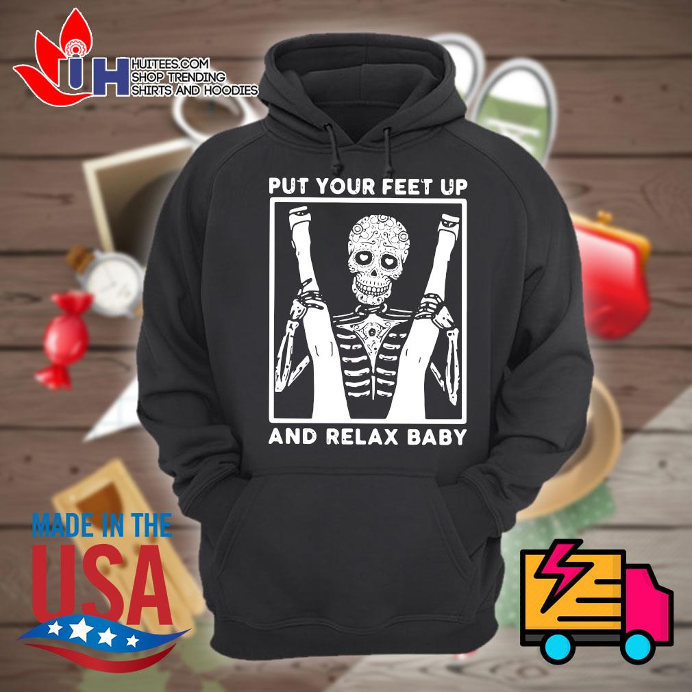 Skeleton put your feet up and relax baby s Hoodie