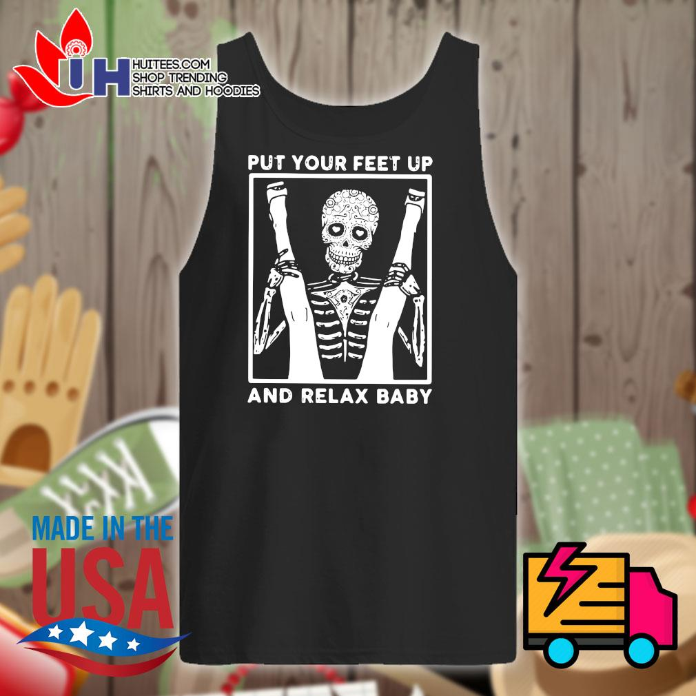 Skeleton put your feet up and relax baby s Tank-top