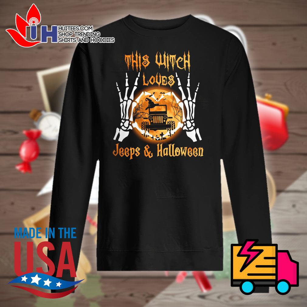 Skeleton this witch loves Jeeps and Halloween s Sweater