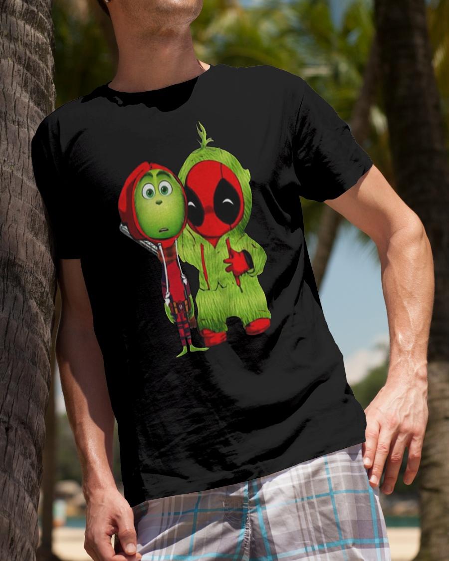Deadpool And Grinch Christmas funny shirt