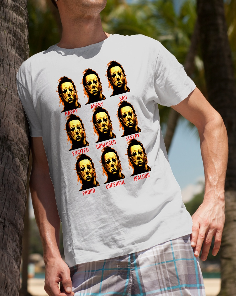 The many faces of Michael Myers shirt