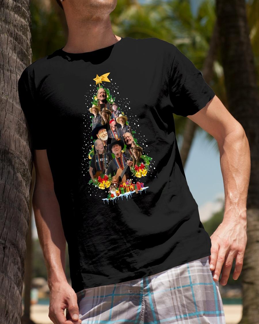 Willie Nelson Christmas tree Shirt