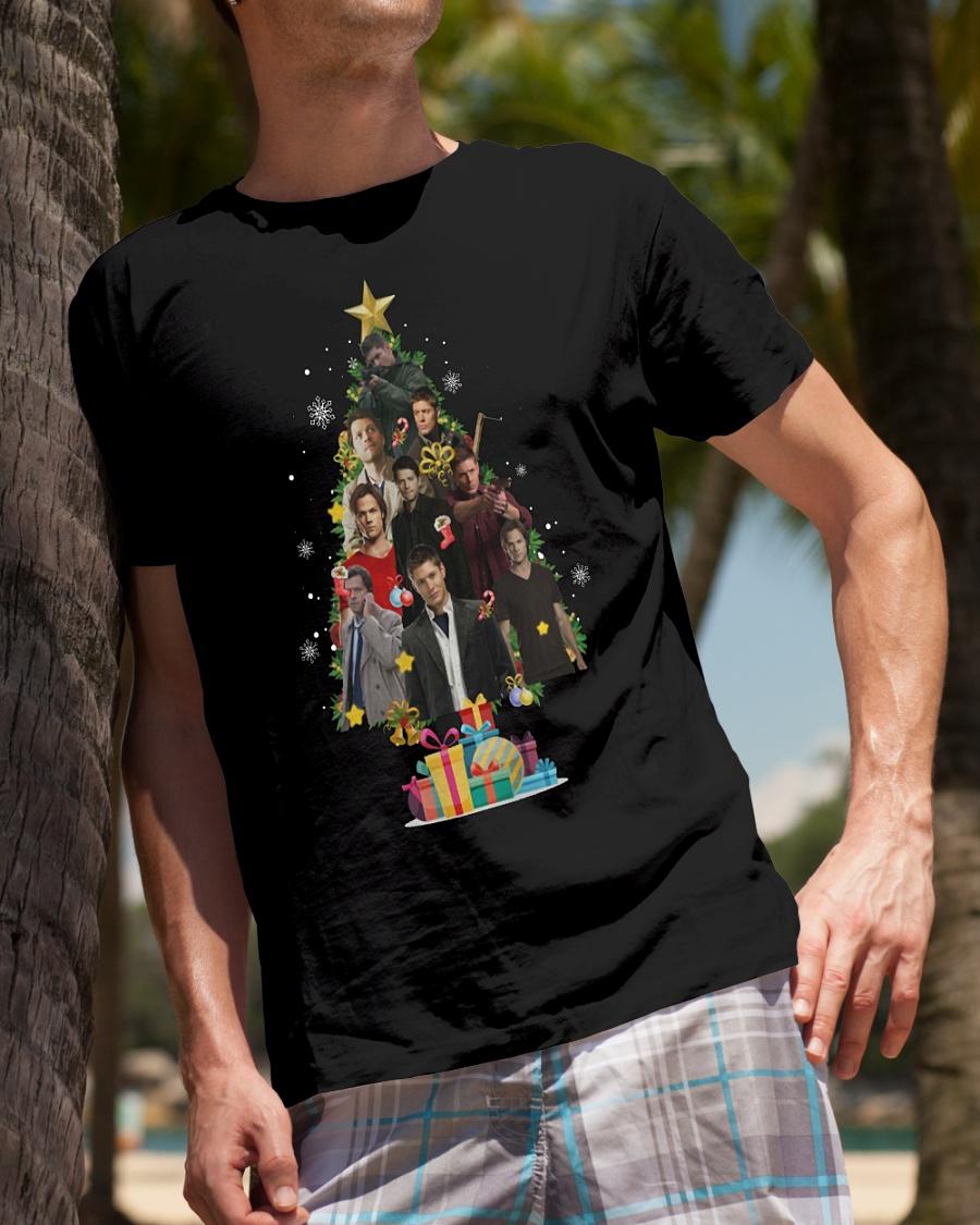 Supernatural Christmas Tree shirt