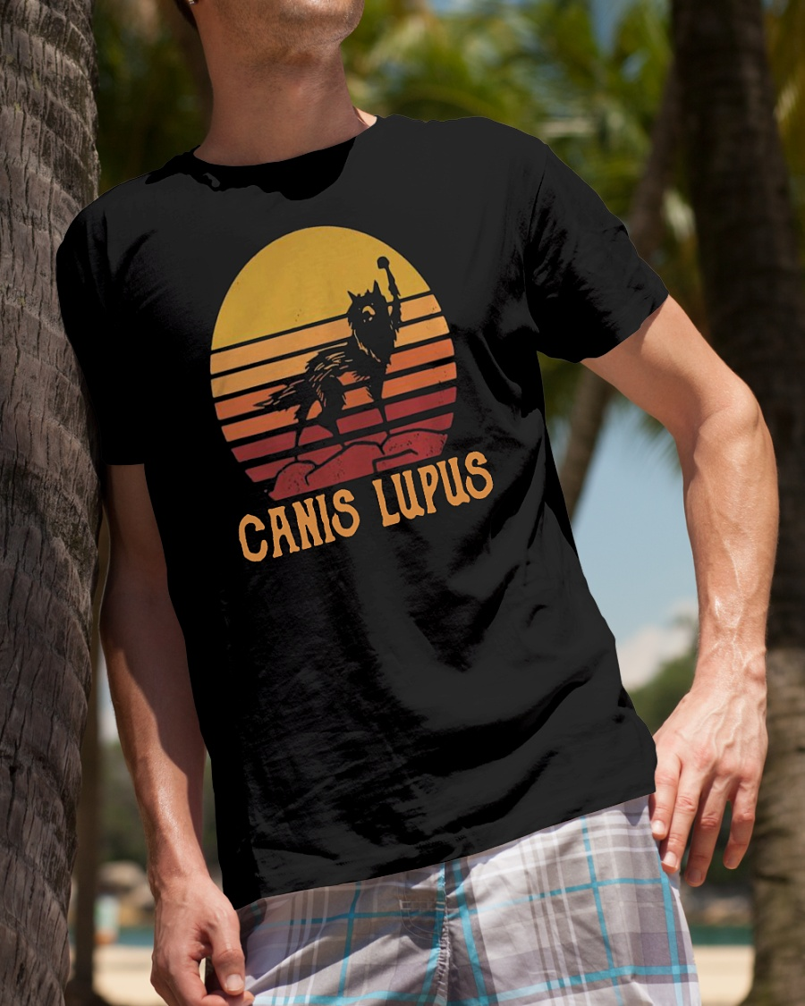 Wolf Canis lupus vintage shirt