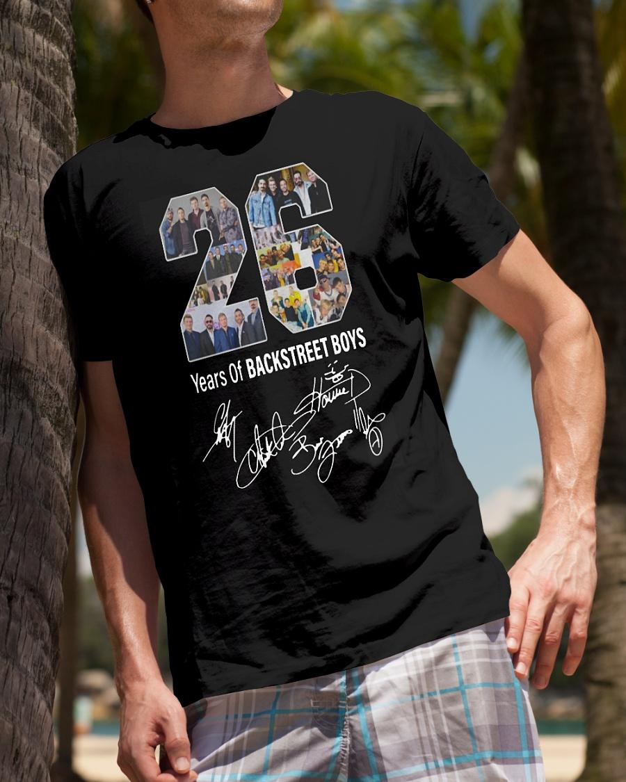 26 Years Of Backstreet Boys all signatures Shirt