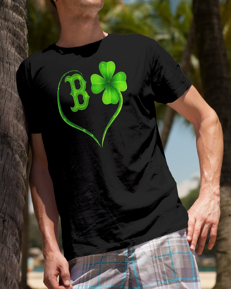 St Patrick's day Boston Red Sox Irish Heart shirt