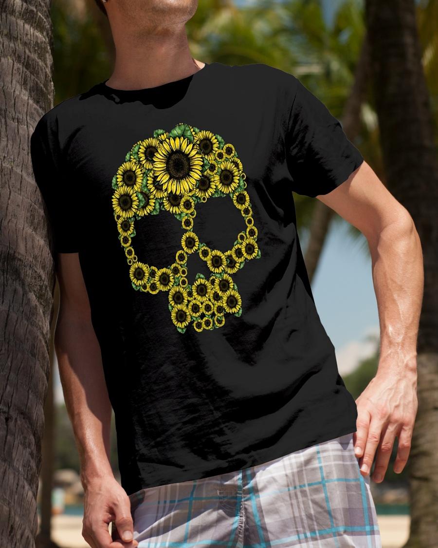 Sunflower skull shirt