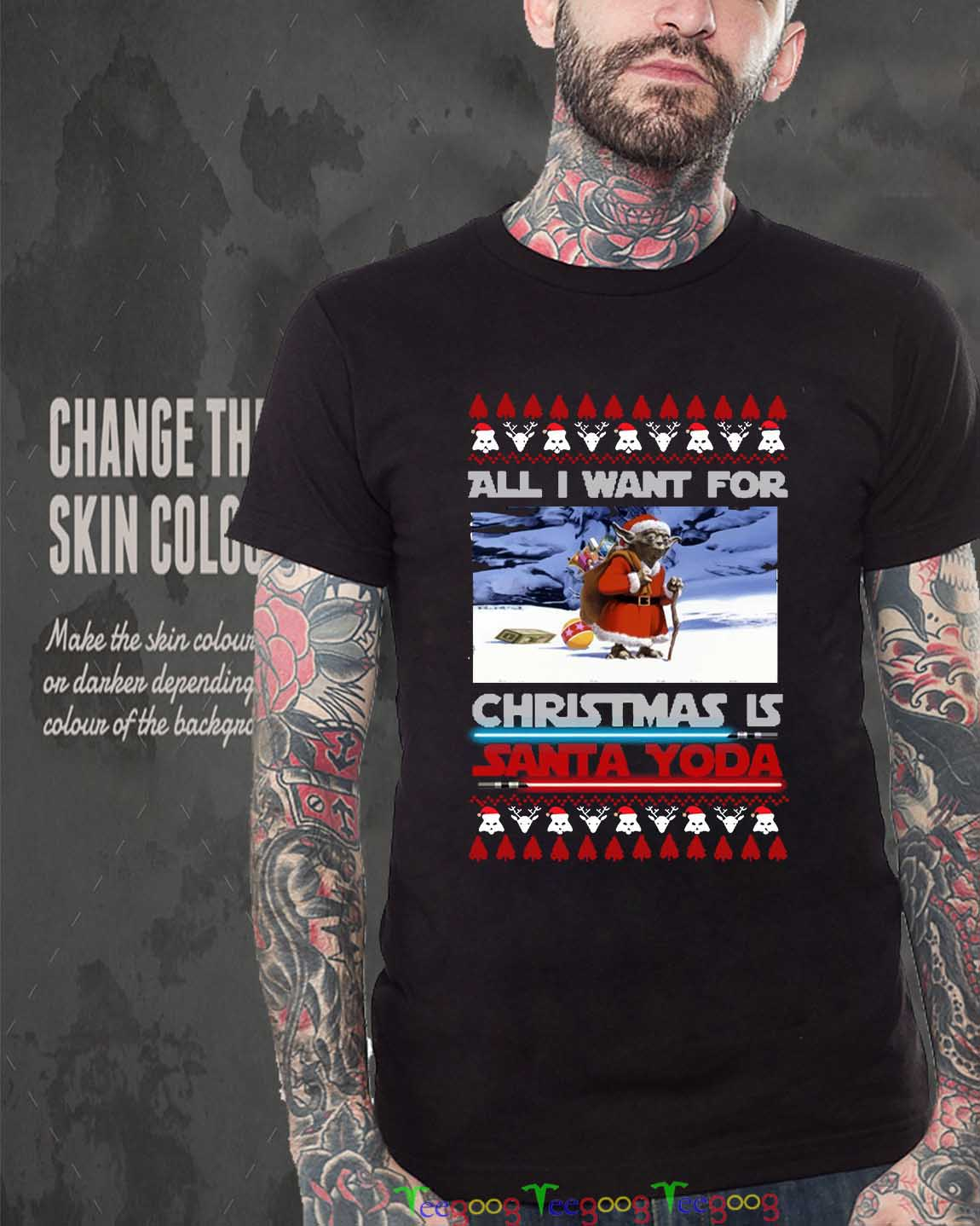 All I Want For Christmas Is Santa Yoda Sweater