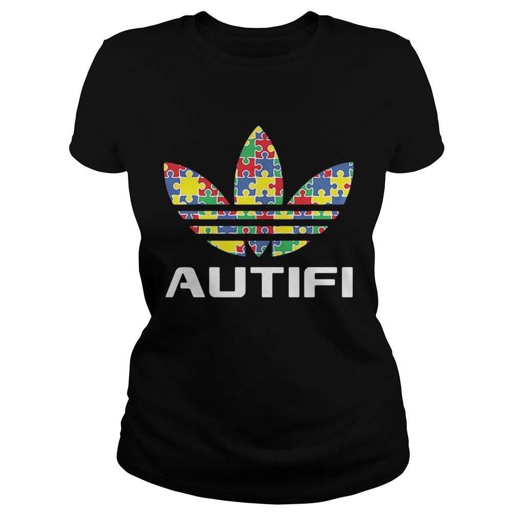 Autism awareness adidas autifi Ladies shirt