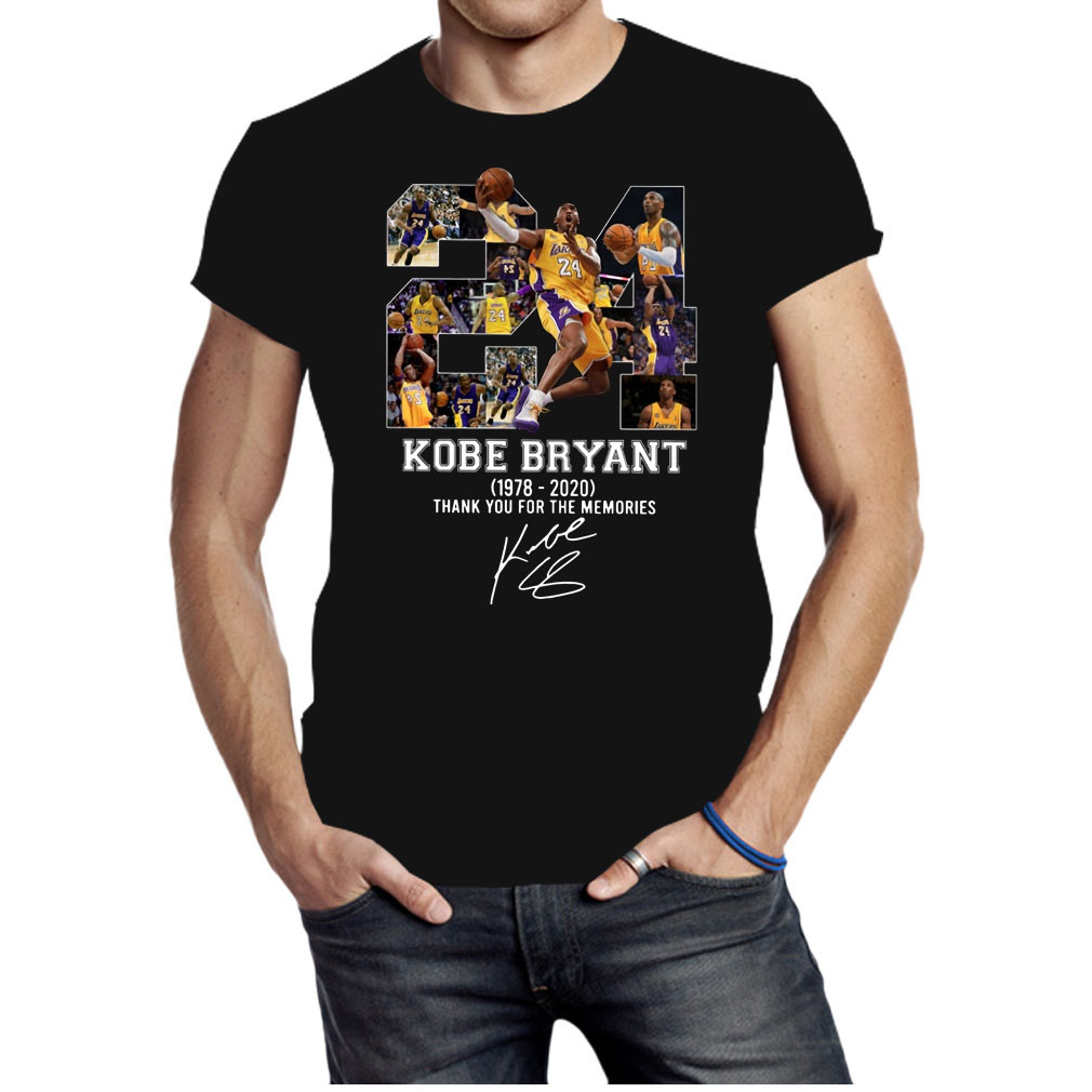 Rip Kobe Bryant 1978-2020 thank you for the memories shirt