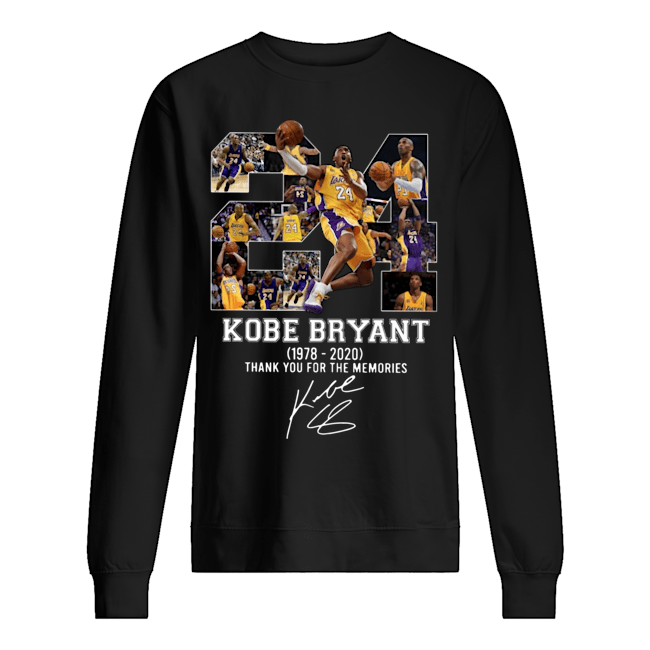 Rip Kobe Bryant 1978-2020 thank you for the memories Sweater