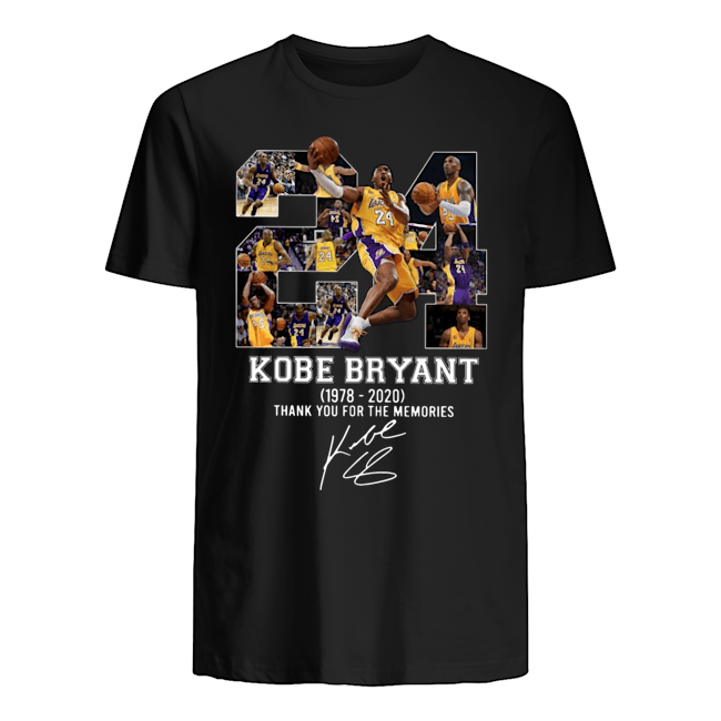 Rip Kobe Bryant 1978-2020 thank you for the memories Guys t-shirt