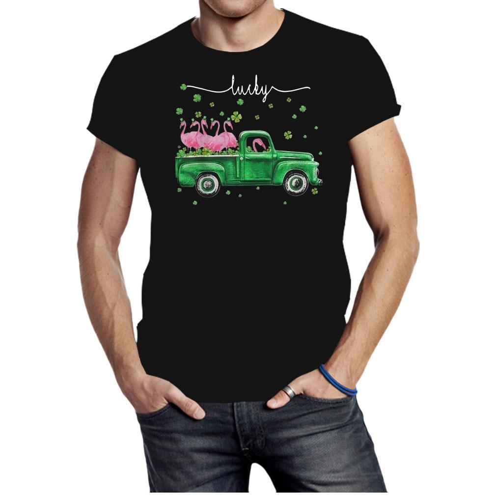 St Patricks Day Flamingos Truck Lucky shirt