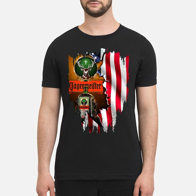 Jagermeister whiskey American flag Veterans shirt