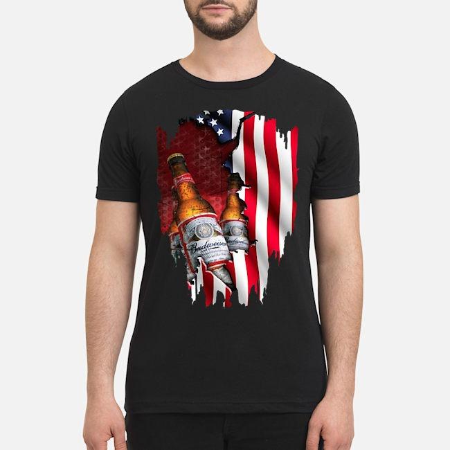 Budweiser beer American flag veterans shirt