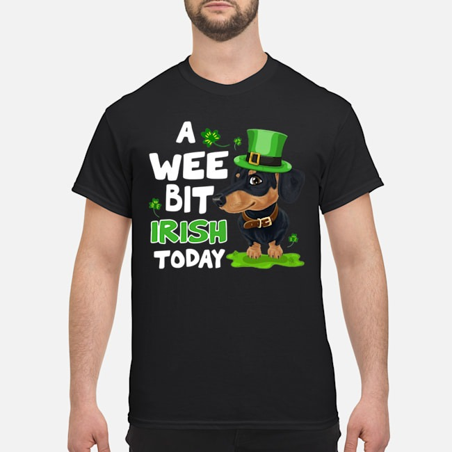 Dachshund a wee bit Irish today shirt