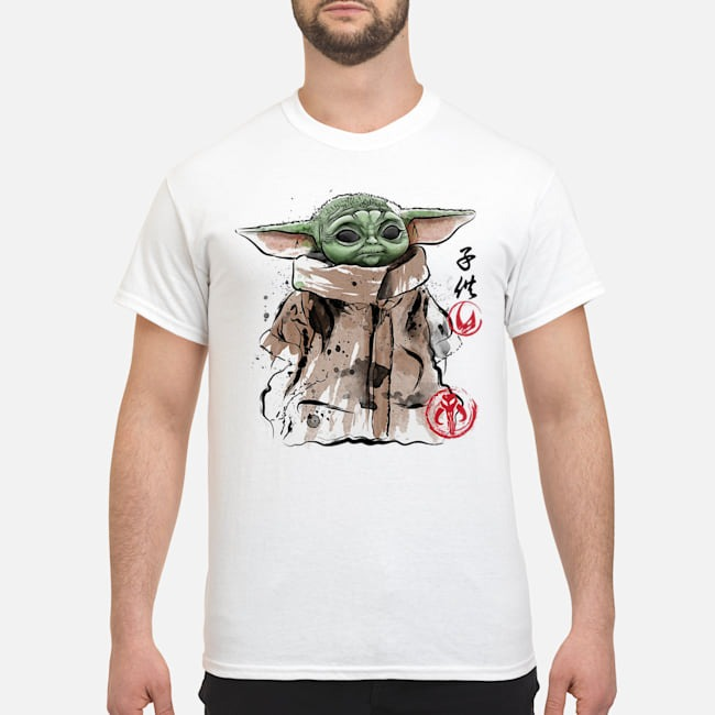 Baby Yoda clan of two the child shirt