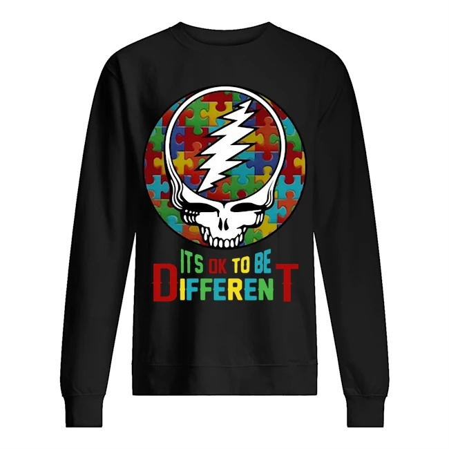 Skull Autism Its ok to be different Sweater