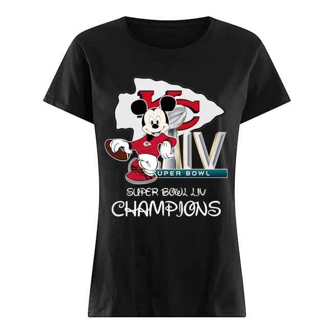 Mickey super bowl liv champions Ladies t-shirt