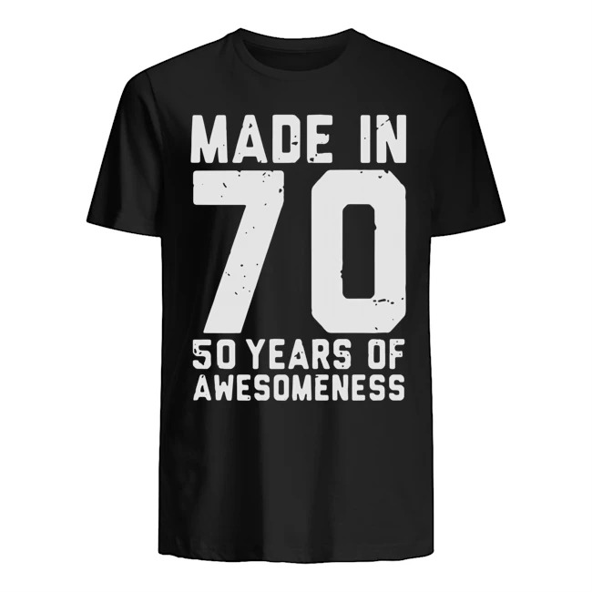 Made in 70 50 years of awesomeness Guys t-shirt