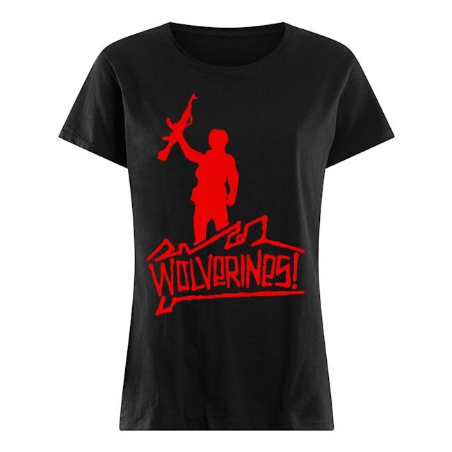 Wolverines graffiti Ladies t-shirt