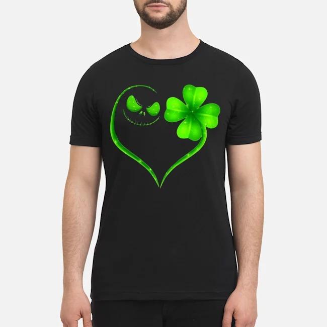 Jack Skellington Shamrock love St Patrick's Day shirt